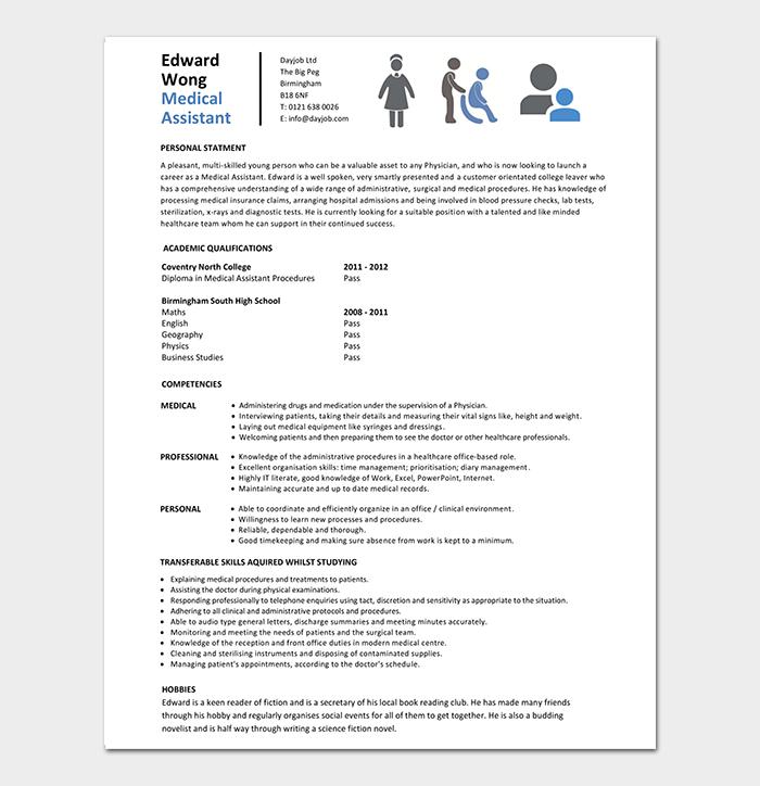 Entry Level Medical Assistant CV