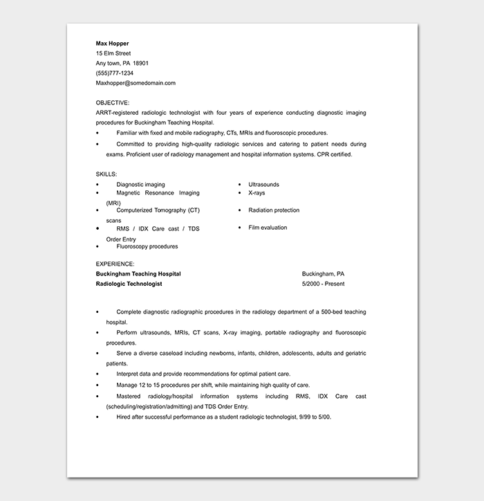 Medical Assistant CV Word