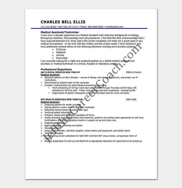 Professional Medical Assistant CV