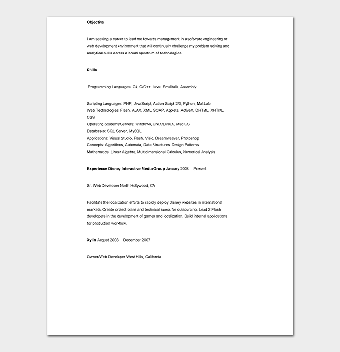 CV Template - 60+ Free Formats, Samples, Examples (Word, PDF)