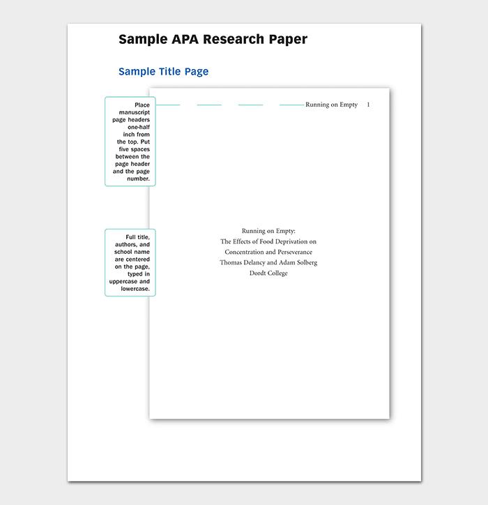Apa Research Paper
