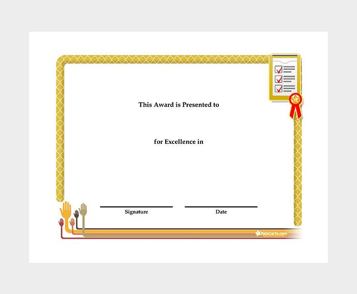 27 Printable Award Certificate Templates Free Premium Word Pdf