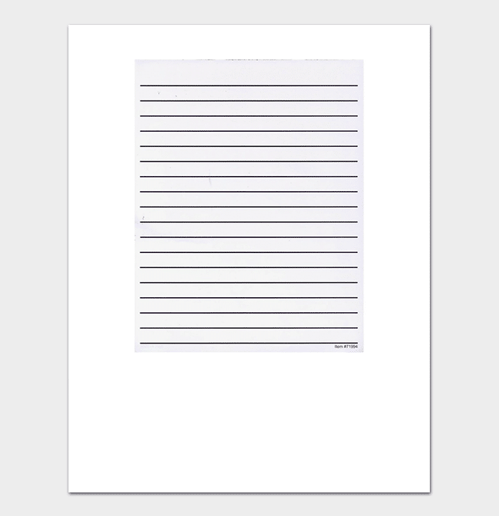 Bold Lined Paper