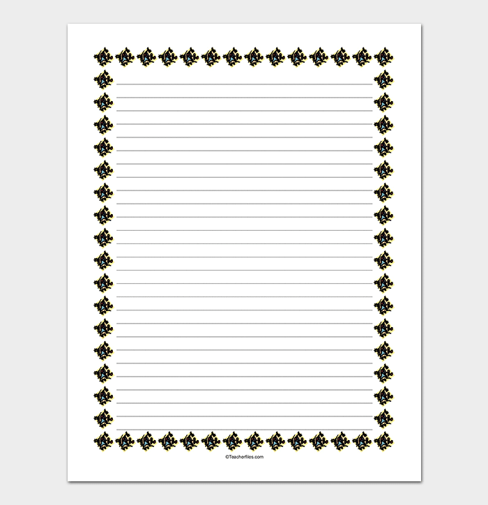 Bordered Lined Paper WORD