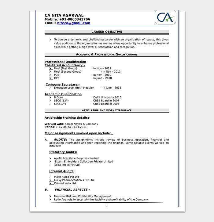 commerce graduate fresher resume sample