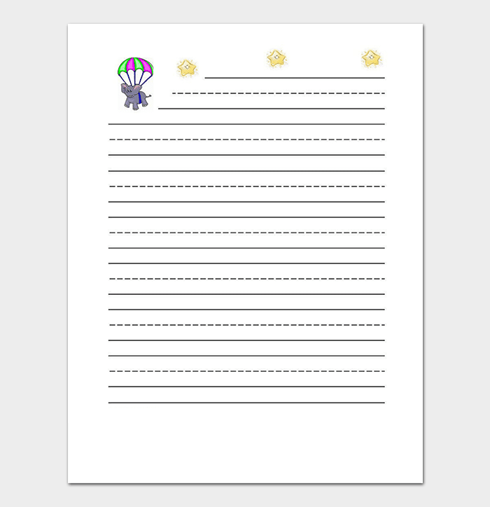 Children Lined Paper