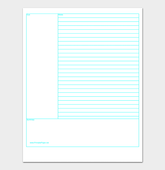 Cornell Lined Paper