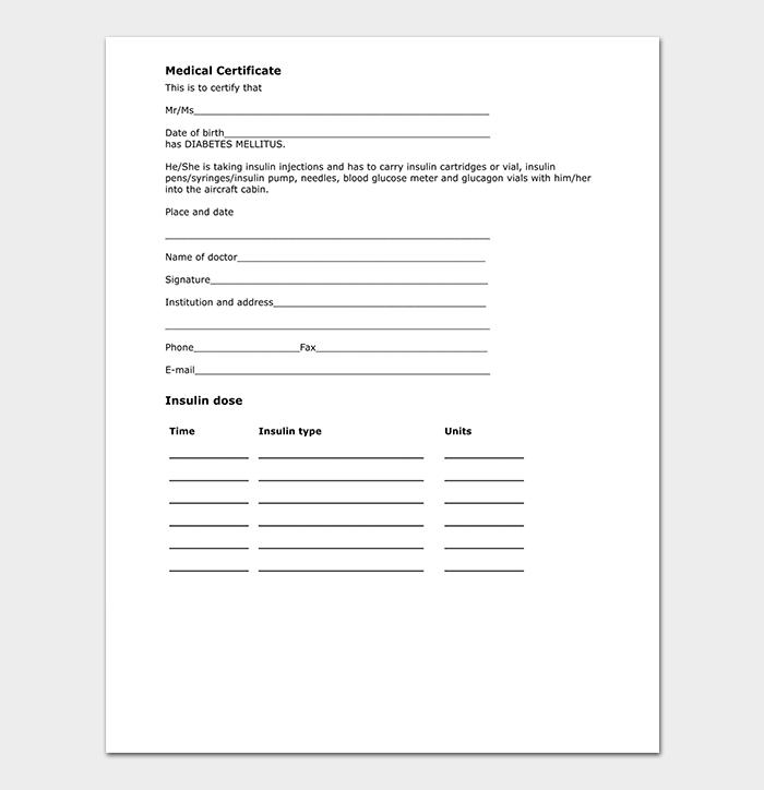 Doctor Medical Certificate DOC