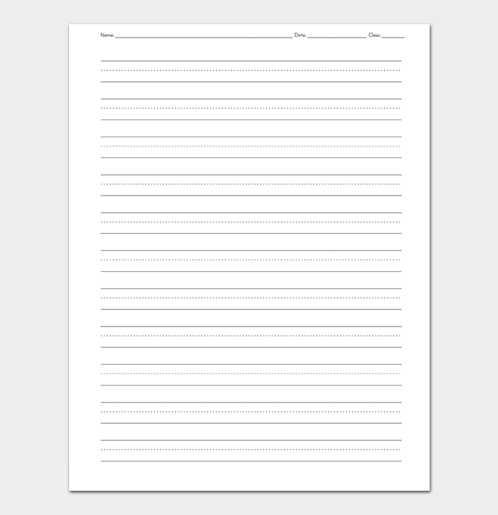 Elementry Lined Paper