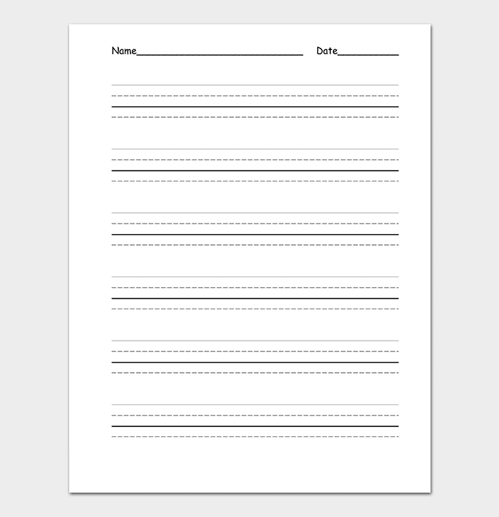 Four Lined Paper
