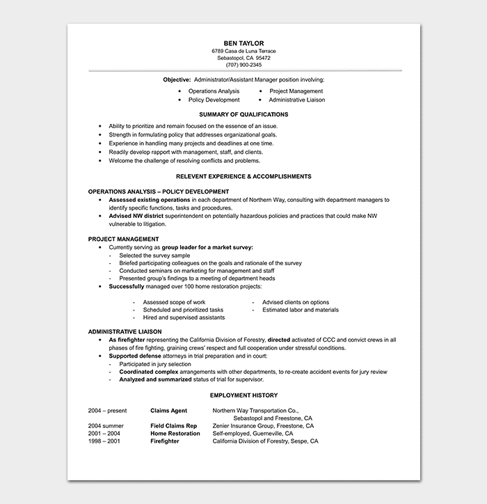 Functional Resume Style Template
