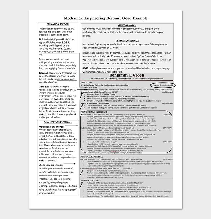 Graduate Freshers Resume Format