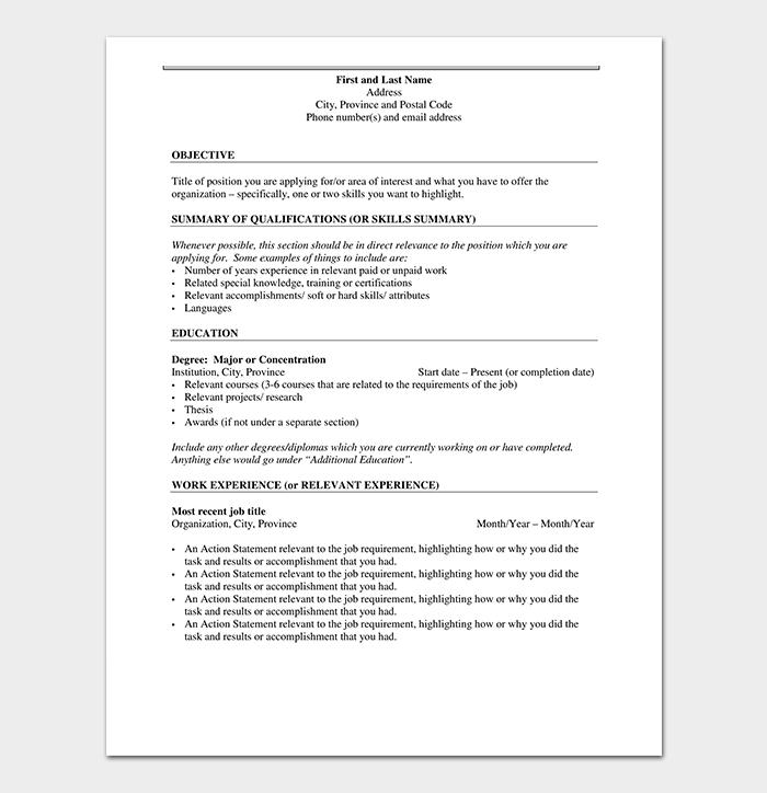 Fresher resume for training consider essay lobster other