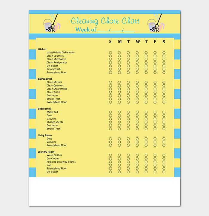 House Cleaning Schedule Sample