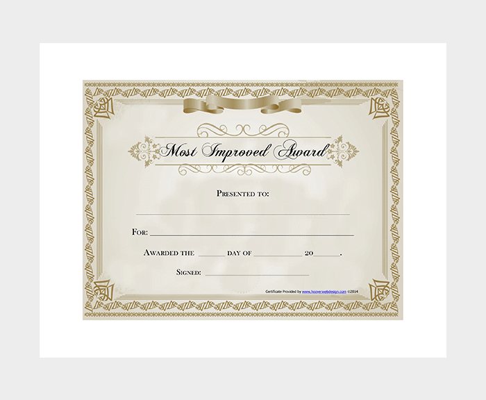 Improved Award Certificate