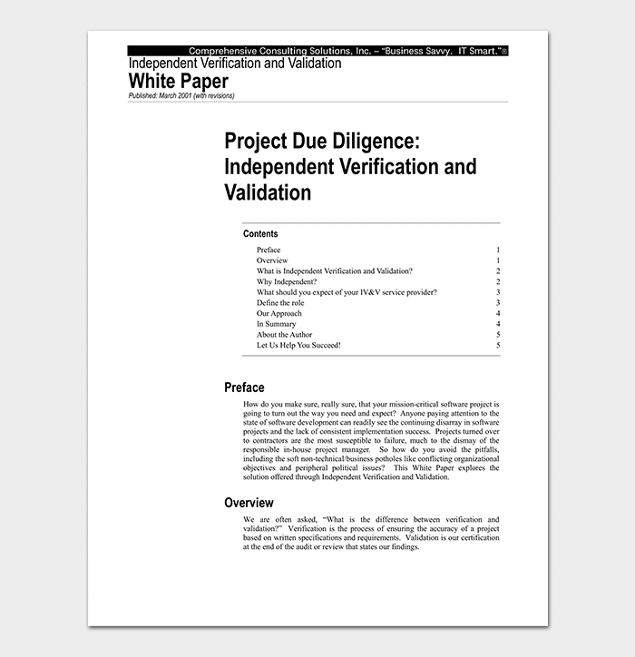 Independent Project White Paper