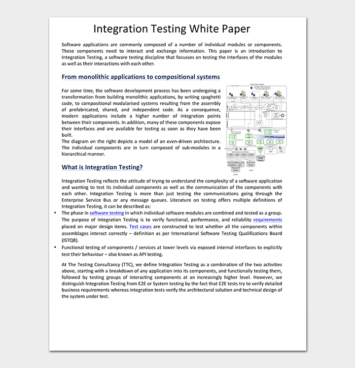 Integration Testing White Paper