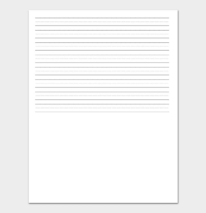 Landscape Lined Paper