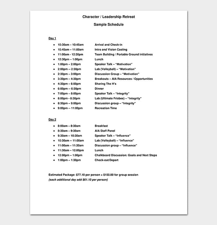 20+ Free Schedule Planner Templates