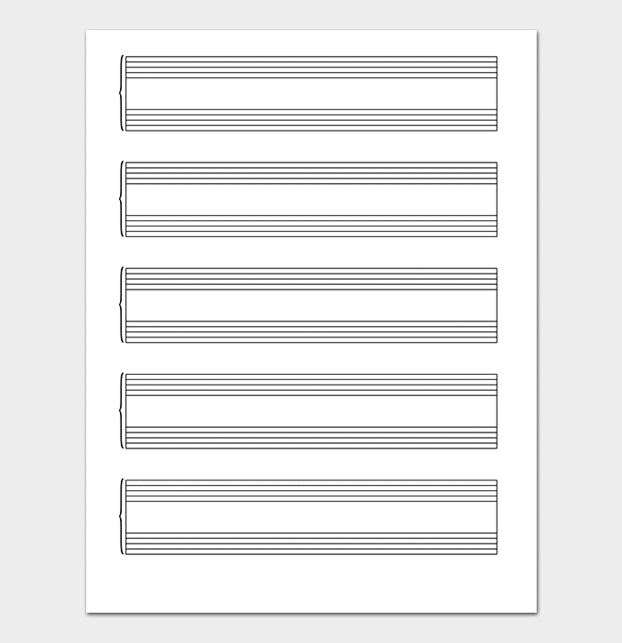 Lined Grand Staff Music Paper