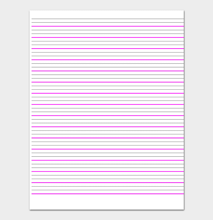 Lined Paper for Kids WORD
