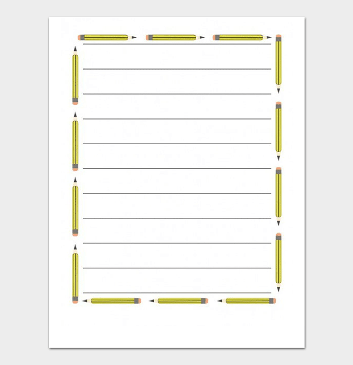 Lined Paper with Border