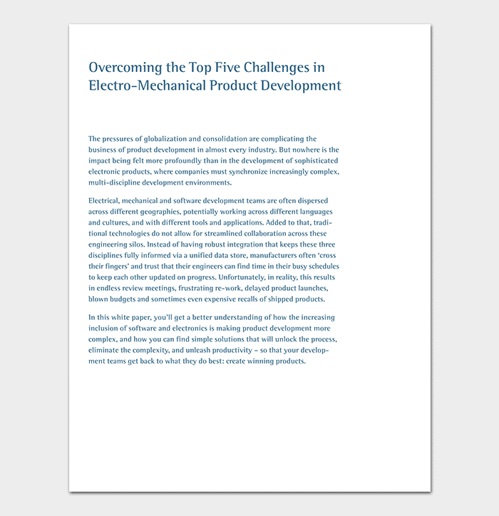 Mechanical Product White Paper