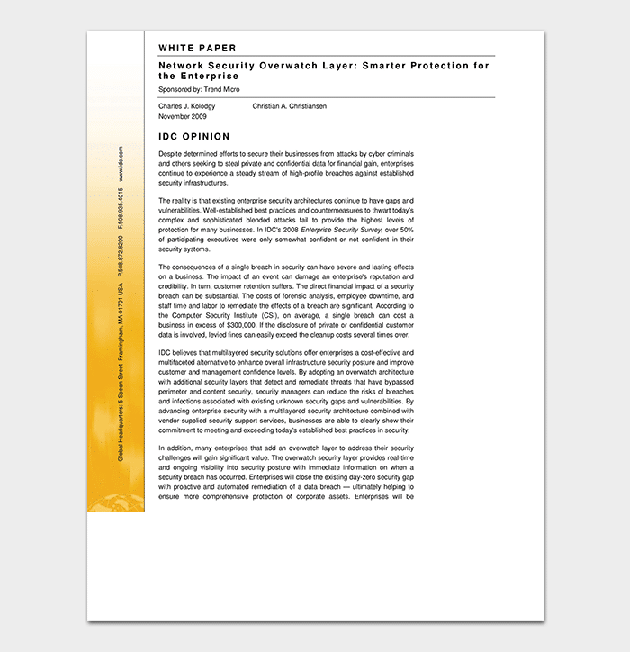 Network Security White Paper