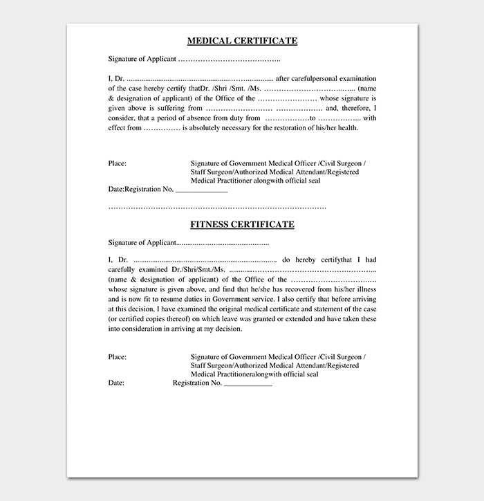 Medical Certificate from Doctor Template | 17+ Free Samples & Formats