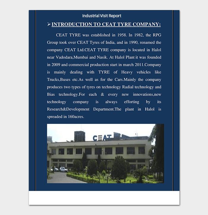 PDF Industrial Visit Report