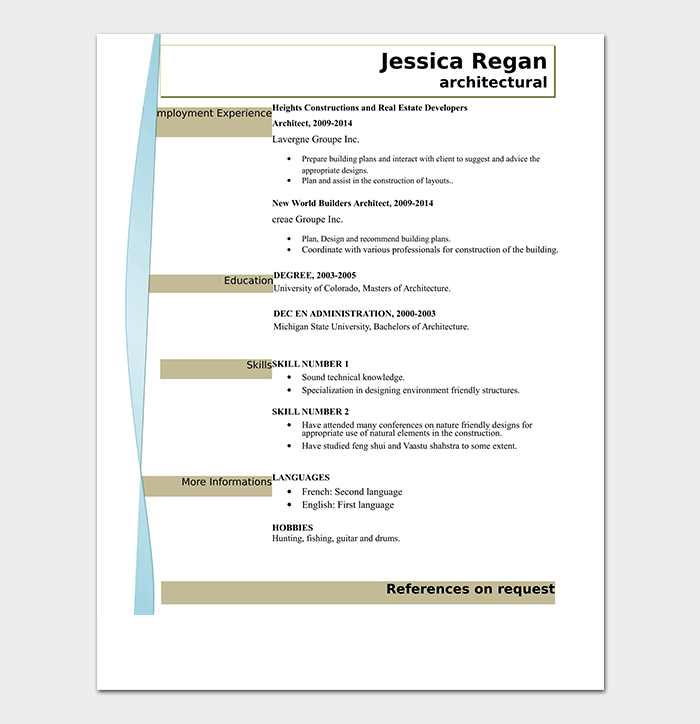 Professional Creative Architecture Resume