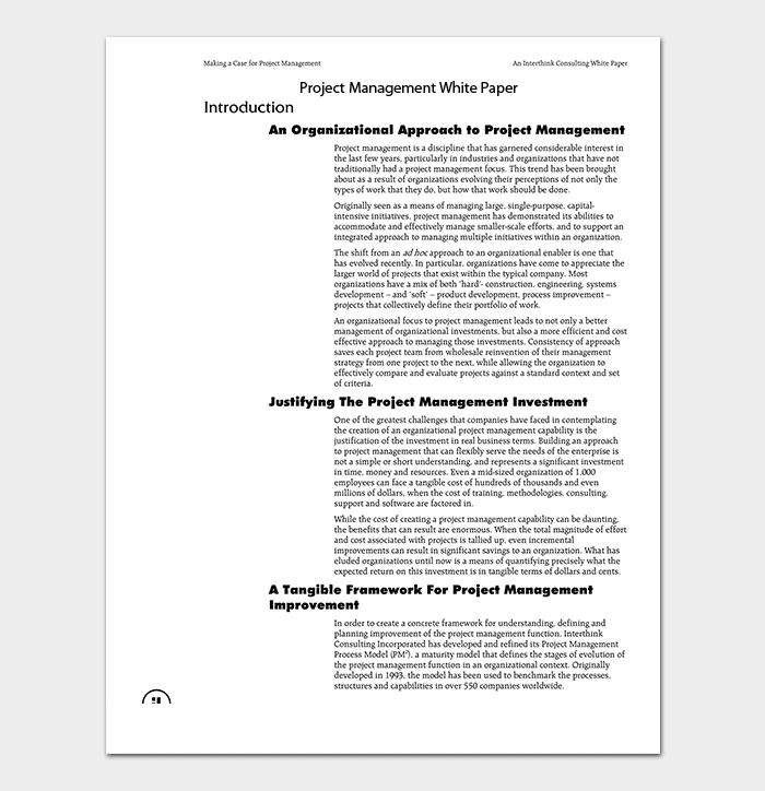 Project Management White Paper