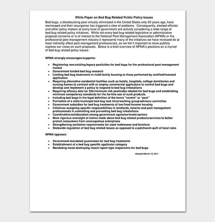 Public Policy White Paper
