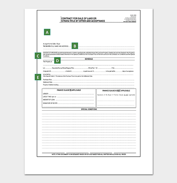 Real Estate Offer and Acceptance Form