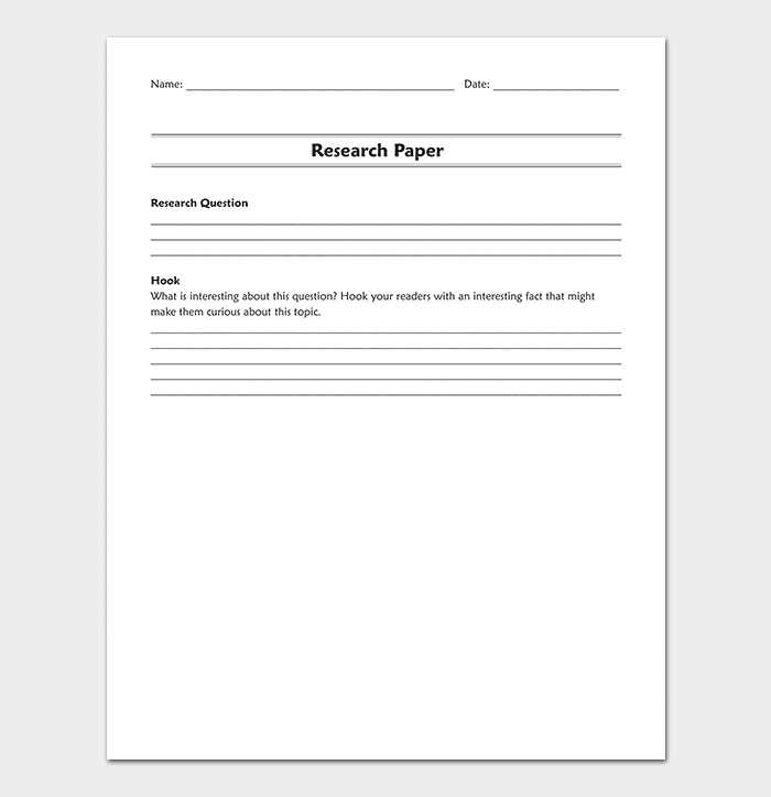 Research Paper Outline Sample