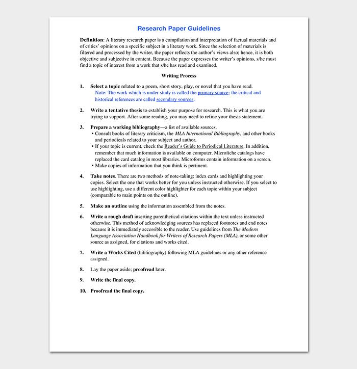 Research Paper Template PDF