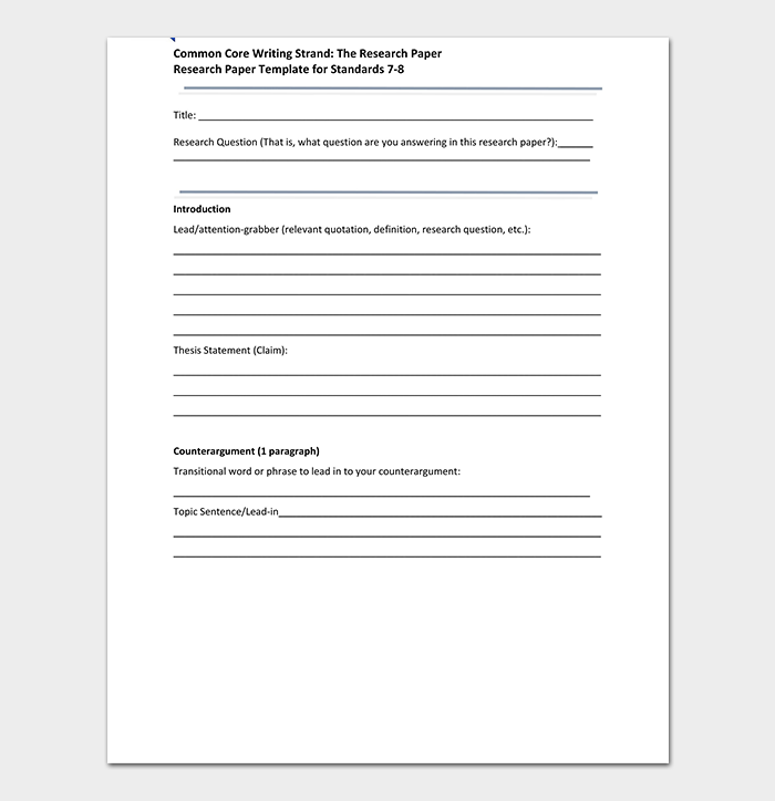 Research Paper Template