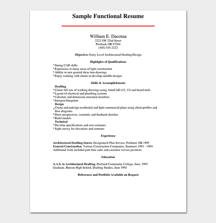 Functional Resume Template | 14+ Free Samples & Examples