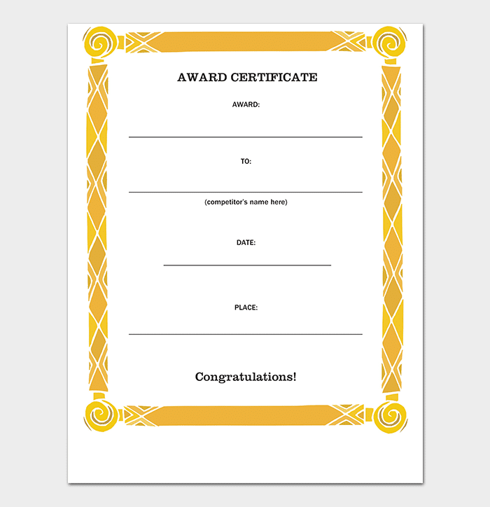 Simple Award Certificate