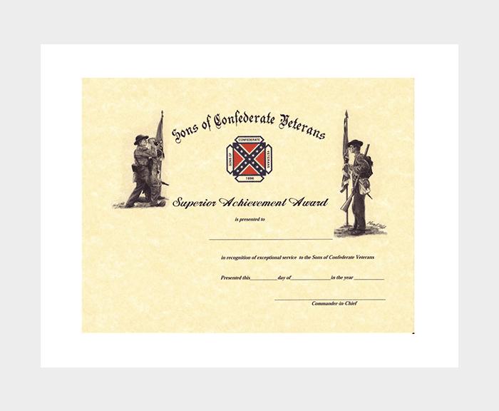 Superior Award Certificate