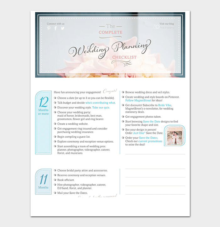 picture regarding Free Printable Wedding Planner Book Pdf named 29+ Wedding day Record Templates Totally free For Phrase, Excel, PDF