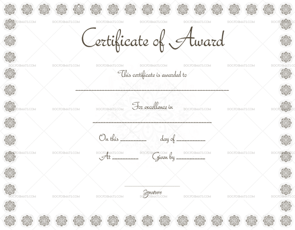 Award Certificate (Snow Design) (Preview)