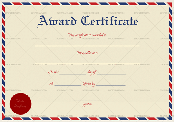 27 printable award certificate templates free premium word pdf business award certificate template cheaphphosting