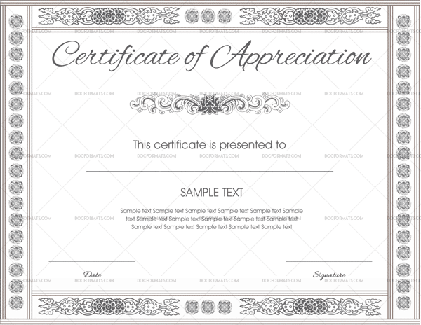 Certificate of Appreciation Template (Preview)