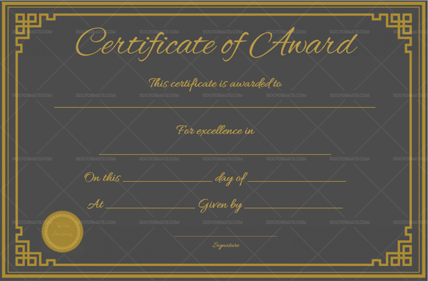 Editable Award Certificate Template (Word)