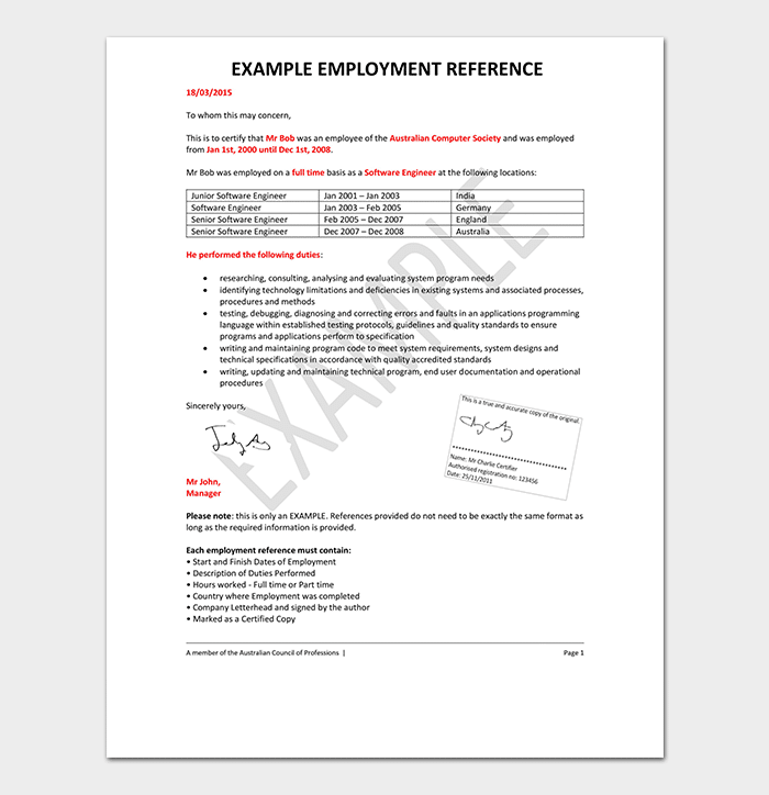 Formal-Employment-Reference-Letter Verify Letter Template on claim letter, email letter, receiving a letter, explain letter, type letter, move letter, notify letter, sign letter, writing a letter,